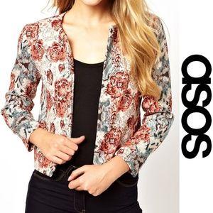 ASOS Vintage Tapestry Jacket Floral Jacquard 2